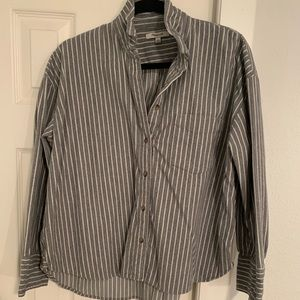 Madewell flannel grey button down